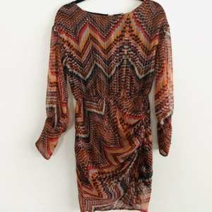 Deby Debo Vanille Metallic Faux Wrap Dress